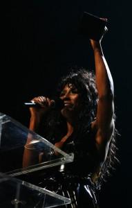 Singer Sinitta Grabs award on behalf of Leona