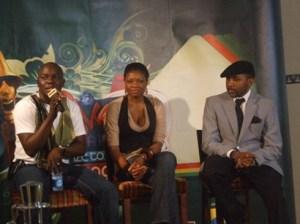 Ayo animashaun, Kemi Adetiba and Banky W (source: http://www.gistmaster.com)